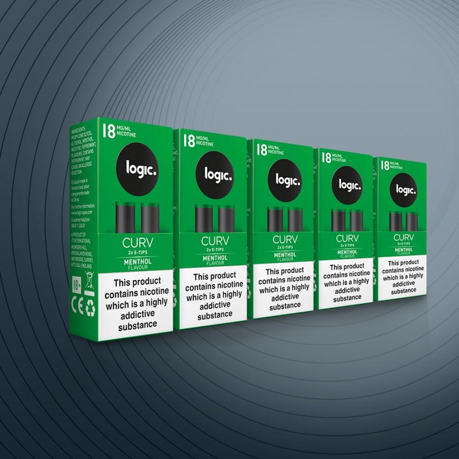 CURV Refill 10x Tips Menthol 18mg