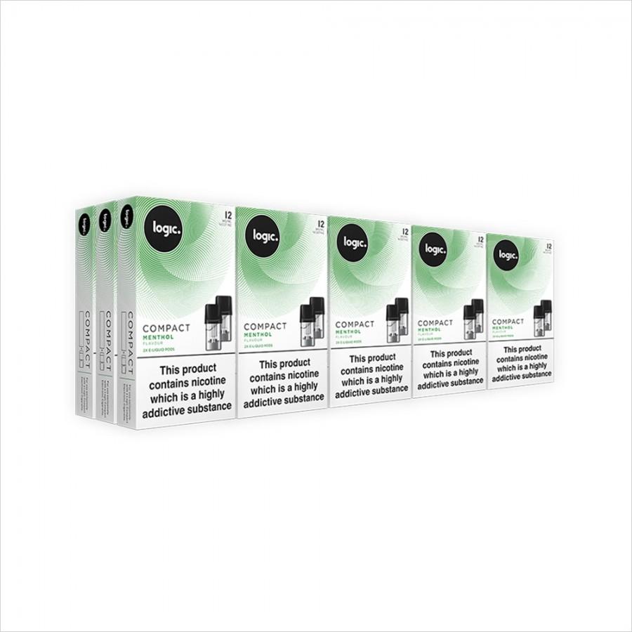 Logic Compact Multipack   30 Pods Menthol 12mg