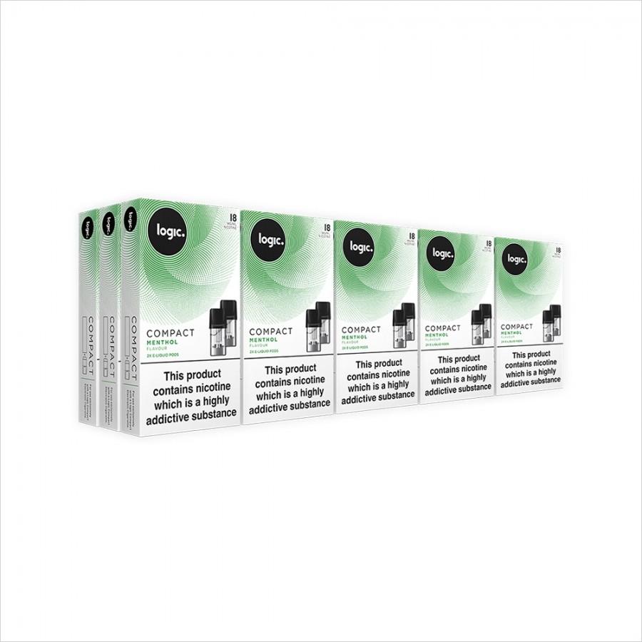 Logic Compact Multipack | 30 Pods Menthol 18mg