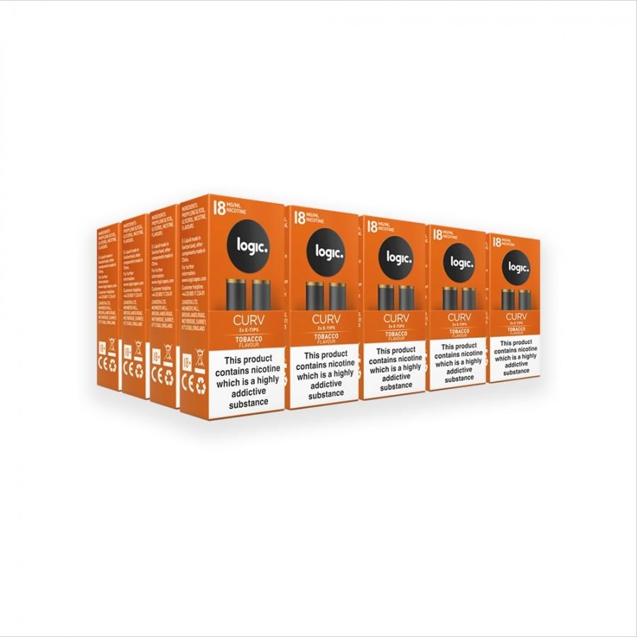 Logic CURV Refill 40x Tips Tobacco18mg