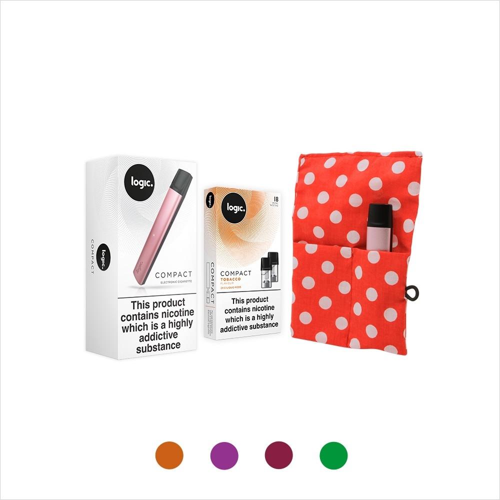 Logic Compact Starter Kit | Red Pearl Lowe Case | Rose Gold