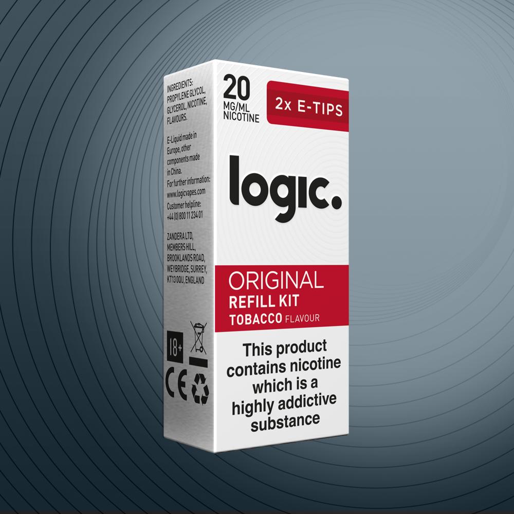 Logic e-cig original refill eliquid capsules